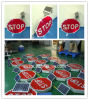 Solar Powered Stop Road Sign / Reflective LED Traffic Sign
