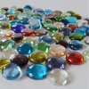 Decorative Flat Round Glass Gems