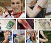 Custom National Flag Club Temporary Tattoo Sticker for Football Basketball Concert