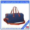 Men′s Large Canvas Weekender Travel Bag with Leather Trim