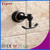 Fyeer Black Series Bathroom Fittings Brass Hanging Robe Hook