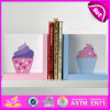 2015 Brand New Wood Cake Bookend, Wooden Sujetalibros, Cute Wooden Cake Bookend, Wooden Cake Bookend for Students W08d057