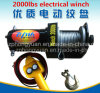 Top Sale Good Quality Electric Winch DC 12V 2000lb Car Auto Winch