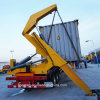 Sidelifter Semitrailer or Side Loader for Loading and Unloading of Shipping Containers Without The Need of a Forklift or Other Container-Handling Equipment