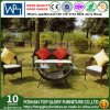 Wicker 4PC Chair with Cushion Outdoor Sofa Sets with Coffee Table (TG-218)