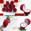 Rose Shape Earring Carrier Holder Ring Gift Box for Packaging