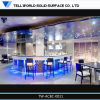Round LED Bar Table Acrylic Solid Surface Bar Counter