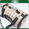 Beige Adjustable Shoulder Handle Pet Dog Travel Bag