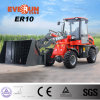 1.0 Ton New Design Everun Mini Wheel Loader with Sander Bucket