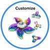 3D Electric Ceramic Bearing Wind Toy Fidget Hand Finger Tri-Spinner
