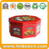 Octagon Cookie Tin Box for Food Tin Packaging, Metal Food Container
