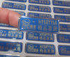 Crystal Epoxy Processing Nameplate Labels