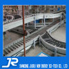 Turning Stainless Steel Roller Conveyor for Workshop Package Line