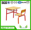 Combo Wooden Single Student Desk and Chair (SF-101S)