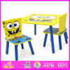 2015 Kids Wooden Table and Chairs, Colorful Kids Furniture Table and Chair, High Quality Wooden Table and Chair Toy W08g102