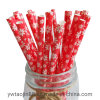 Food Grade Biodegradable Christmas Table Decoration Paper Straws