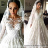 Lace Bridal Ball Gowns Muslim Long Sleeves Arabic Wedding Dresses Y20316