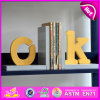 2015 Brand New Wood Letters Bookend, Cute Wooden Letters Bookend, Wooden Letters Bookend for Students W08d055