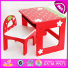2015 Children Wooden Table and Chair, Wooden Furniture Table and Chair for Kids, Wooden Table and Chair for Children Study W08g155