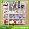 White Hollow Carved Floor Storage Rack Book Rack