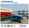 China 3 Axle Lowbed Pulling Drawbar Full Trailer