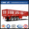 Cimc Huajun 3 Axle Four Doors Cargo Stake Semi Trailer with Long Locks