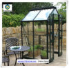 Alum Steel Frame Glass Greenhouse for Flowers with Hydroponic Systems