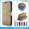 Bling Diamond Leather Wallet Flip Case for LG K10 2017