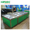 Shopping Mall Display Metal Wooden Display Rack