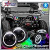 RGB 7 Inch Jeep LED Headlight and Fog Light Kit