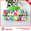Canvas Cosmetic Bag with Flower Print for Promotion