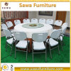 Foldable Plastic Table Outdoor Table Round Table with Metal Tube