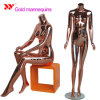 Brand Window Display Full Body Fashion Female Gold Mannequin