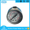 1.5inch-40mm Half Stainless Steel Back Thread Type Liquid Filled Pressure Gauge