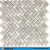 Carrara White Marble Wave Pattern Marble Mosaic