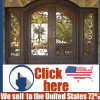 Cheap Price Steel Security Wrought Iron Door Gate