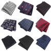 Hot Sale Pocket Square Casual Polyester Silk Striped Mens Hanky Wholesale