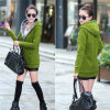 New Korea Women Long Sleeve Winter Jacket Lady Outerwear Sweatshirt