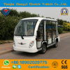 8 Passengers off Road Battery Powered Classic Shuttle Electric Enclosed Sightseeing Mini Bus for Resort
