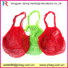 Red Reusable Woven String Cotton Mesh Shopping Bag
