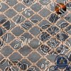 2.7m Peach with Rose on Gilt-Edged Four-Grid Shading for Bedding Textile