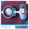 Wafer type rubber sealing butterfly valve with pneumatic actuator BCT-P-WBFV-01