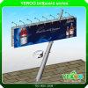 Oblique Square Pillar Street Advertising LED Backlit Billboard