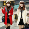 Latest Winter Warmer Knitted Women′s Coat with Hood