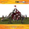 PE Plastic and Net Climbing Playground with Slide Game (NC-09501)