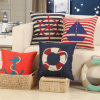 Cotton Linen Digital Printed Decorative Cushion Cover Throw Pillow Case