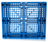 Warehouse Storage Products 1200*1200*150mm HDPE Plastic Tray Grid Heavy Duty Shelf Racking 1.5t Load Plastic Pallet with 6 Steel Bar