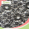 Factory Direct 150 Cm Black Color Nylon Italian Lace Fabric
