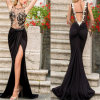 High Quality Lady Backless Formal Maxi Cocktail Dress (53015)