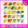 Learn ABC Wooden Alphabet Puzzle for Kids, Best Sale Wooden Learning English Alphabet Puzzle Toys Set W14b065
